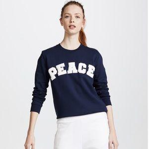 Tory Sport Peace Letterman Navy Sweatshirt